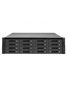 QNAP REXP-1610U-RP disk array Rack (3U) Black Qnap REXP-1610U-RP - 1