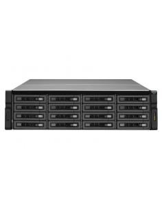 QNAP REXP-1610U-RP levyjärjestelmä Teline ( 3U ) Musta Qnap REXP-1610U-RP - 1