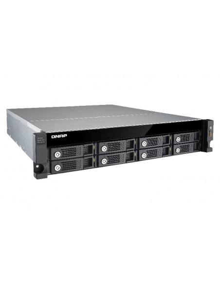 QNAP UX-800U-RP levyjärjestelmä Musta Qnap UX-800U-RP - 4