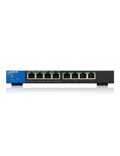 Linksys LGS308P Hallittu Gigabit Ethernet (10/100/1000) Power over -tuki Musta, Sininen Linksys LGS308P-EU - 1