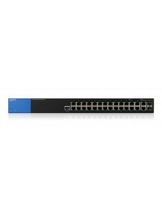 Linksys LGS528-EU nätverksswitchar hanterad L2/L3 Gigabit Ethernet (10/100/1000) 1U Svart Linksys LGS528-EU - 1