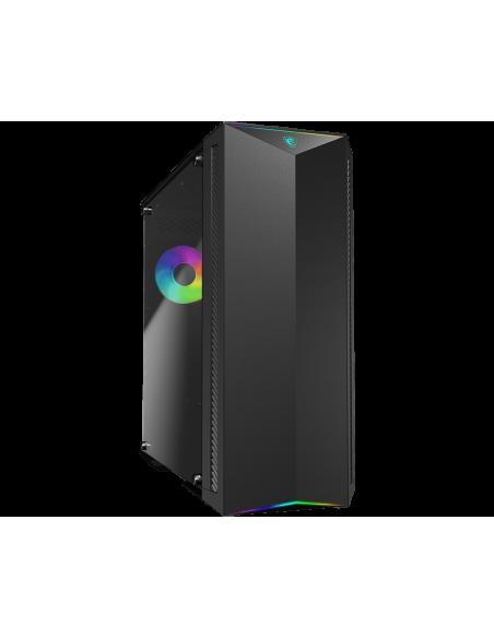 MSI MPG GUNGNIR 100 Mid Tower Gaming 'Black, 1x 120mm ARGB + 3x Fan, Mystic Light Sync, 8 Channel Hub, Tempered Glass Panels Msi