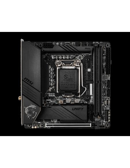 MSI MEG Z490I UNIFY 'Mini-ITX, LGA1200, DDR4, 802.11ax WiFi 6 + Bluetooth 5.1, USB 3.2 Gen2, Type C, M.2 Msi MPG Z490I UNIFY - 2