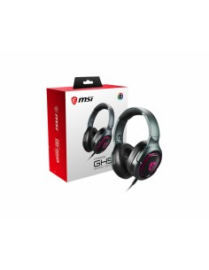 MSI IMMERSE GH50 7.1 Virtual Surround Sound RGB Gaming Headset 'Black with Ambient Dragon Logo, Mystic Light, USB Msi S37-040002