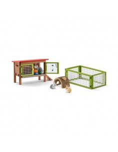 Schleich Farm Life Rabbit Hutch Schleich 42420 - 1
