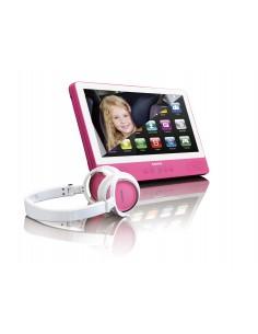 """Lenco TDV-901 Kannettava DVD-soitin Pöydän pinta 22.9 cm (9"""") 1024 x 600 pikseliä Vaaleanpunainen Lenco TDV901PINK - 1"""