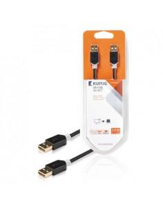 König USB A - M/M 2m USB-kaapeli 2.0 Antrasiitti König KNC60000E20 - 1