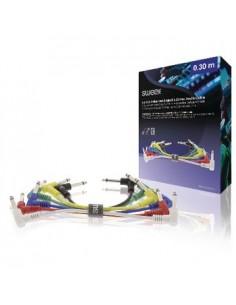 Sweex SWOP23010E030 ljudkabel 0.3 m 6,35mm Multifärg Sweex SWOP23010E030 - 1