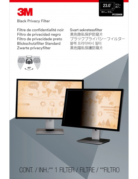 """3M Privacy Filter for 23"""" Widescreen Monitor 3m 7000021450 - 2"""