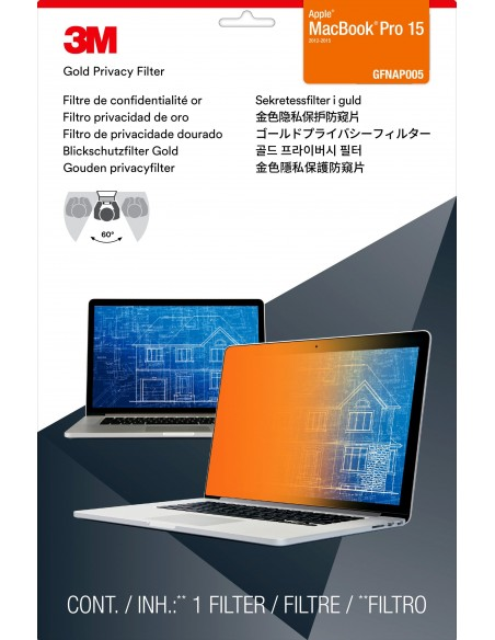 """3M Gold Privacy Filter for 15"""" Apple® MacBook Pro® with Retina® Display 3m 7000059572 - 2"""