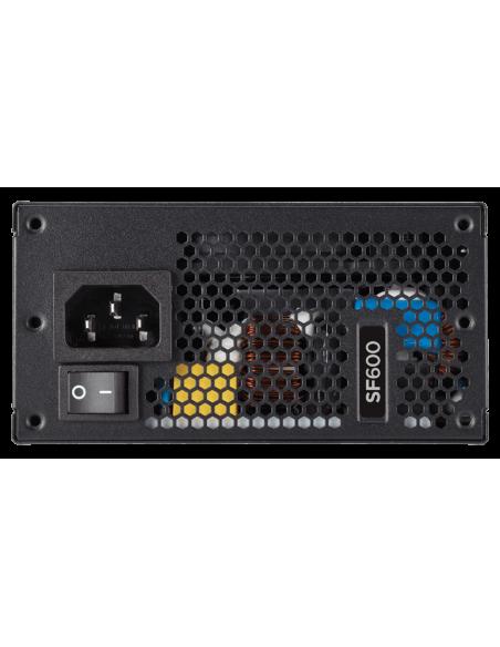 Corsair SF600 virtalähdeyksikkö 600 W 24-pin ATX SFX Musta Corsair CP-9020105-EU - 3