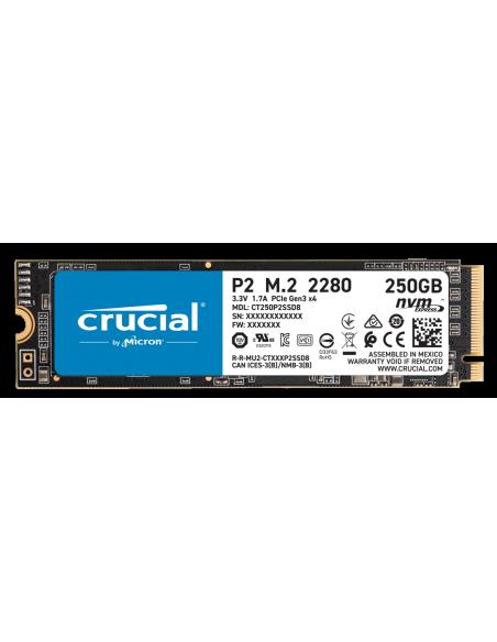 Crucial P2 M.2 250 GB PCI Express 3.0 NVMe Crucial Technology CT250P2SSD8 - 2