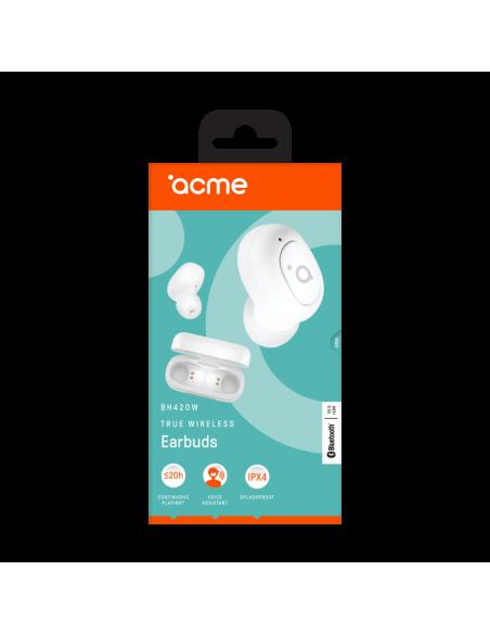 ACME BH420W kuulokkeet ja kuulokemikrofoni In-ear Valkoinen Acme Europe 258641 WHITE - 13