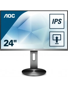 "AOC Pro-line I2490PXQU/BT tietokoneen litteä näyttö 60,5 cm (23.8"") 1920 x 1080 pikseliä Full HD LED Harmaa Aoc International I2"
