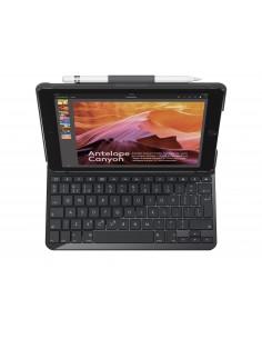 Logitech Slim Folio mobiililaitteiden näppäimistö QWERTY UK kansainvälinen Musta Bluetooth Logitech 920-009024 - 1
