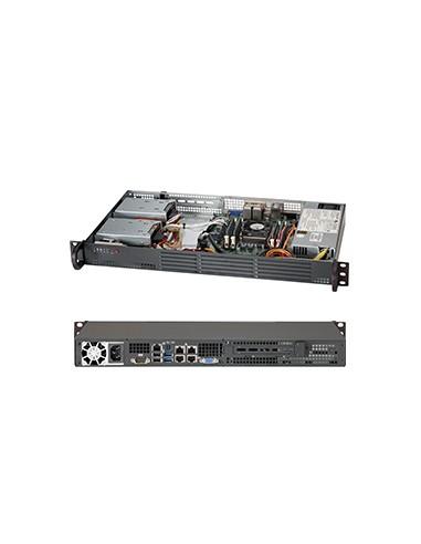 Supermicro SC504-203B Intel® C222 LGA 1150 (Pistoke H3) Supermicro CSE-504-203B - 1