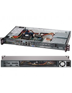 Supermicro CSE-505-203B server barebone Rack (1U) Supermicro CSE-505-203B - 1