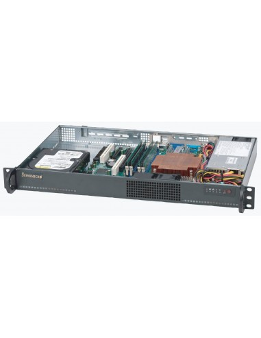 Supermicro CSE-510L-200B tietokonekotelo Teline Musta 200 W Supermicro CSE-510L-200B - 1