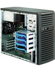 Supermicro 731i-300B Mini-Tower Black Server Case with 300W 80PLUS Bronze Power Supply Supermicro CSE-731I-300B - 1