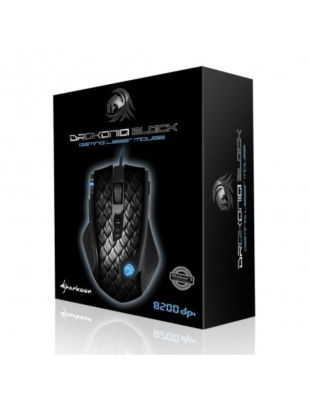 Sharkoon Drakonia Black hiiri USB A-tyyppi Laser 8200 DPI Oikeakätinen Sharkoon Technologies Gmbh 4044951013579 - 6