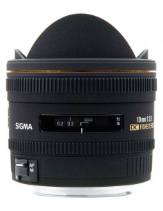 Sigma 10mm F2,8 EX DC HSM Fisheye Canon SLR Musta Sigma 477954 - 1