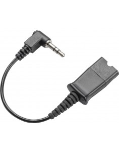 POLY Quick Disconnect cable to 3.5mm Musta Plantronics 40845-01 - 1