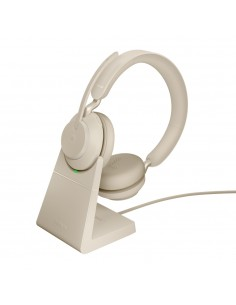Jabra Evolve2 65. MS Stereo Kuulokkeet Pääpanta Beige Jabra 26599-999-888 - 1