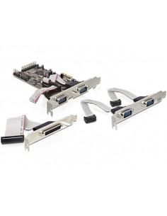 DeLOCK PCI Express card 4 x serial, 1x parallel liitäntäkortti/-sovitin Delock 89177 - 1