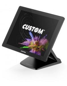 """CUSTOM VISION15 PRO i5 38.4 cm (15.1"""") 1024 x 768 pikseliä Kosketusnäyttö 2.4 GHz i5-6300U All-in-one Musta Custom 935FV090100L3"""