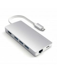Satechi ST-TCMA2S keskitin USB 3.0 (3.1 Gen 1) Type-C 5000 Mbit/s Hopea Satechi ST-TCMA2S - 1