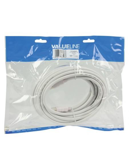 Valueline 7.5m HDMI m/m HDMI-kaapeli 7.5 m HDMI-tyyppi A (vakio) Valkoinen Valueline VGVP34000W75 - 3