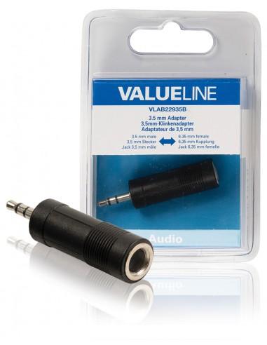 Valueline VLAB22935B kaapeli liitäntä / adapteri 3.5mm 6.35mm Musta Valueline VLAB22935B - 1