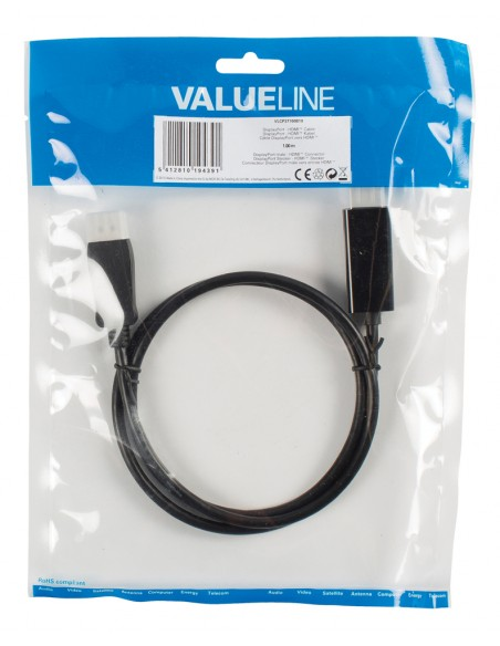Valueline 1m DisplayPort - HDMI m/m Musta Valueline VLCP37100B10 - 2
