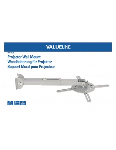 Valueline VLM-PM31 projektorin kiinnike Katto/seinä Hopea Valueline VLM-PM31 - 4