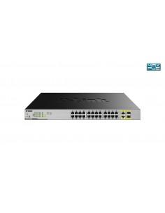 D-Link DGS-1026MP nätverksswitchar Ohanterad Gigabit Ethernet (10/100/1000) Strömförsörjning via (PoE) stöd Svart, Grå D-link DG