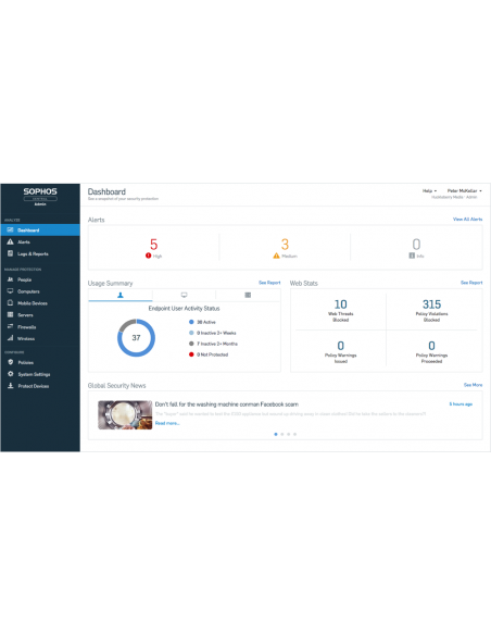 Sophos Central Server Protection Advanced Uusiminen Sophos CSAE2CTAA - 5