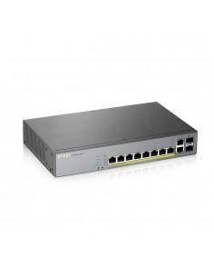 Zyxel GS1350-12HP-EU0101F verkkokytkin Hallittu L2 Gigabit Ethernet (10/100/1000) Harmaa Power over -tuki Zyxel GS1350-12HP-EU01