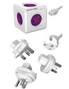 Allocacoc PowerCube ReWirable jatkojohto 1 m 5 AC-pistorasia(a) Purppura, Valkoinen Allocacoc 1801/DERW3P - 1