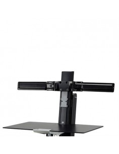 "Ergotron Dual Monitor Double-Hinged Bow 63.5 cm (25"") Black Ergotron 98-101-009 - 1"
