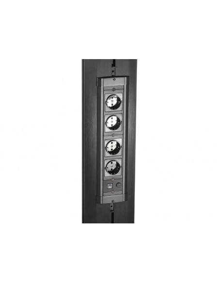 Multibrackets M Public Display Stand Pillar 70 Black, incl. 220V Power Rail Multibrackets 7350073730681 - 3