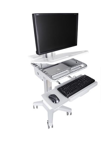 Multibrackets 0773 multimediavagnar & ställ Silver, Vit PC Multimediavagn Multibrackets 7350073730773 - 2