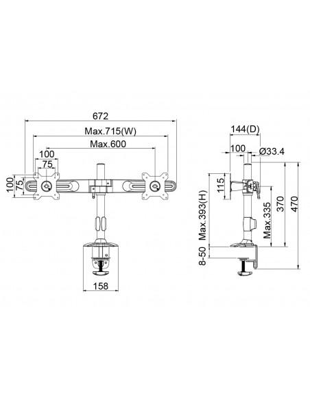 Multibrackets 4665 tillbehör till bildskärmsfäste Multibrackets 7350073734665 - 7