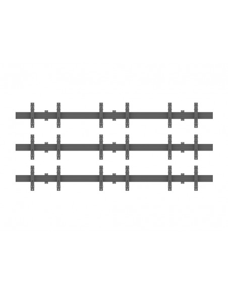 Multibrackets M Wallmount Pro MBW3x3U Push In Pop Out Black Multibrackets 7350073735013 - 2