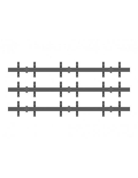 Multibrackets M Wallmount Pro MBW3x3U Push In Pop Out Black Multibrackets 7350073735013 - 4