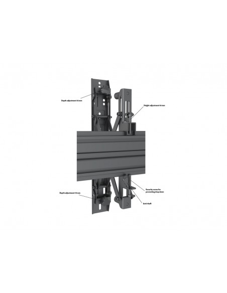 Multibrackets M Wallmount Pro MBW3x3U Push In Pop Out Black Multibrackets 7350073735013 - 9