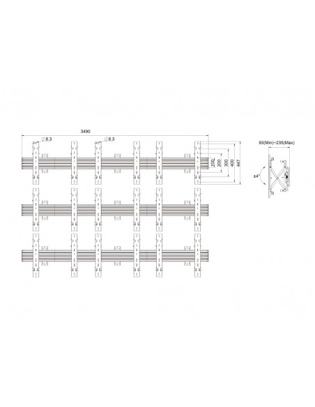 """Multibrackets 5013 fäste för skyltningsskärm 165.1 cm (65"""") Svart Multibrackets 7350073735013 - 11"""