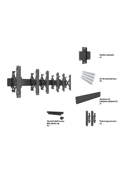 """Multibrackets 5037 fäste för skyltningsskärm 139.7 cm (55"""") Svart Multibrackets 7350073735037 - 7"""