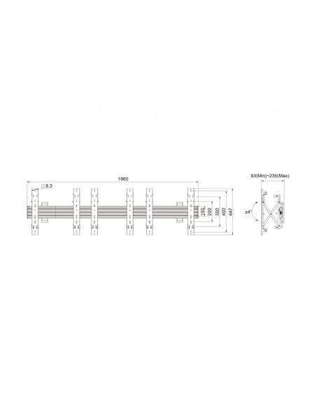"""Multibrackets 5037 kyltin näyttökiinnike 139.7 cm (55"""") Musta Multibrackets 7350073735037 - 11"""