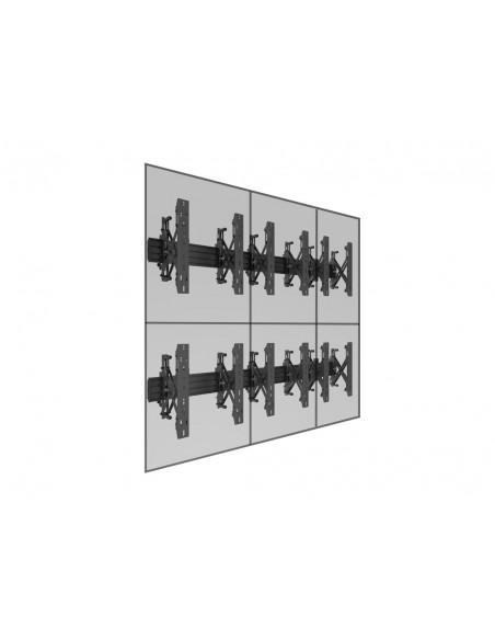 """Multibrackets 5044 kyltin näyttökiinnike 139.7 cm (55"""") Musta Multibrackets 7350073735044 - 12"""