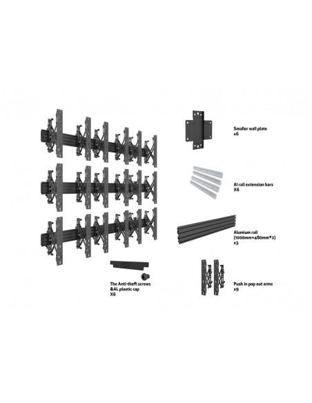 """Multibrackets 5051 kyltin näyttökiinnike 139.7 cm (55"""") Musta Multibrackets 7350073735051 - 7"""